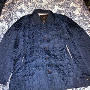 Coach signature quilted jacket nylon C logolining